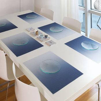 Set de Table Rectangulaire Effet Brillant - Indigo