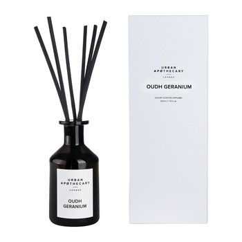 Luxury Reed Diffuser - Black Glass - Oudh Geranium