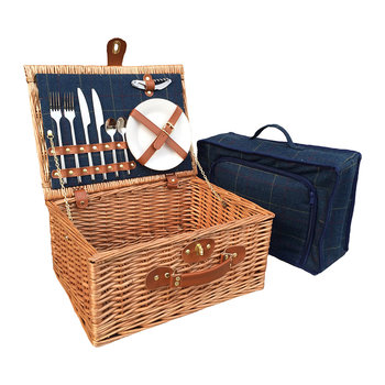 Blue Tweed Hamper - 2 Person