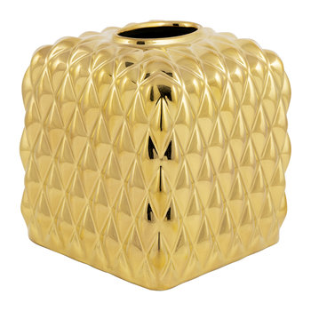 Black Tie Tissue Box - Gold