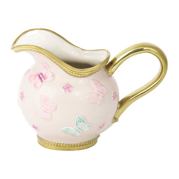 Butterfly Porcelain Creamer - Baby Rose/Gold