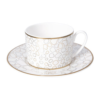 Giraffe Teacup & Saucer - Set of 2 - Luxury Gift Set