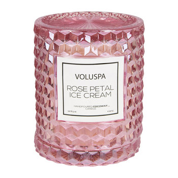 Roses Icon Candle - Rose Petal Ice Cream - 240g