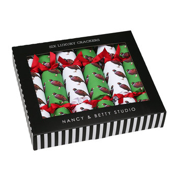 Crackers de Noël Faisans - Lot de 6