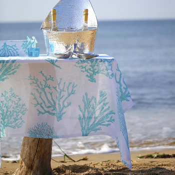 Bonifacio Table Cloth - 160x260cm - Lagoon
