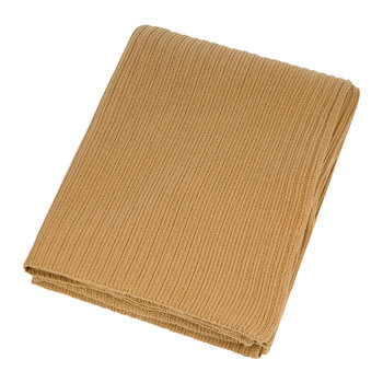 Knitted Rib Throw - Camel