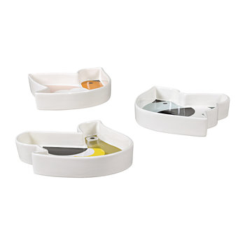 Ceramic Snack Bowls - Set of 3 - Birds