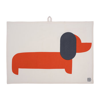 Dachshund Tea Towel - Set of 2 - Persimmon
