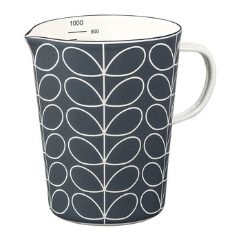 Enamel Linear Stem Large Measuring Jug - Slate