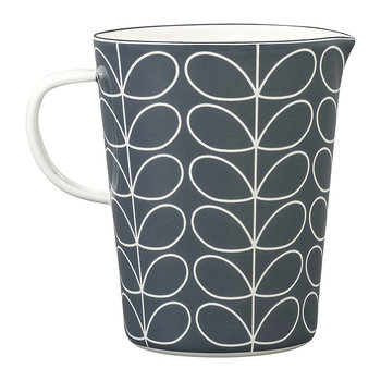 Enamel Linear Stem Measuring Jug - Slate