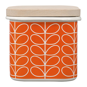 Enamel Linear Stem Storage Jar - Persimmon