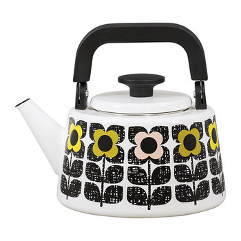 Enamel Scribble Square Kettle - Multi