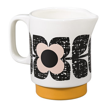 Scribble Square Flower Milk Pitcher - Rose Tint