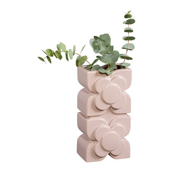 Square Flower Layered Vase - Pink