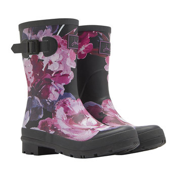 Women's Molly Mid-Height Wellies - Black Winter Floral