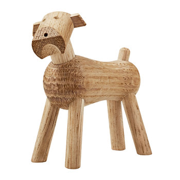 Dog Tim Wooden Figurine - White Oak