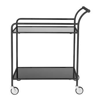 Fine Bar Drinks Trolley - Black