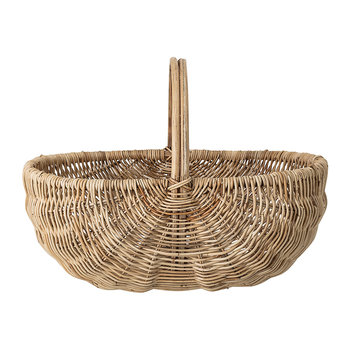 Open Oval Rattan Basket