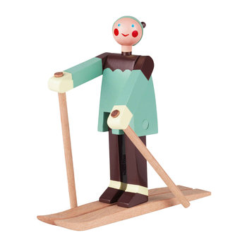 Boje The Boy Skier Wooden Toy