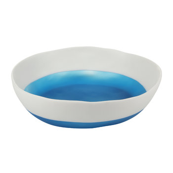 Wide Salad Bowl - Two Tone Ocean Blue