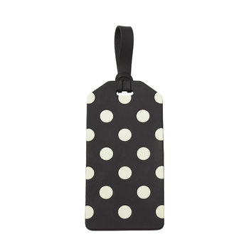 Luggage Tag - Black and Cream