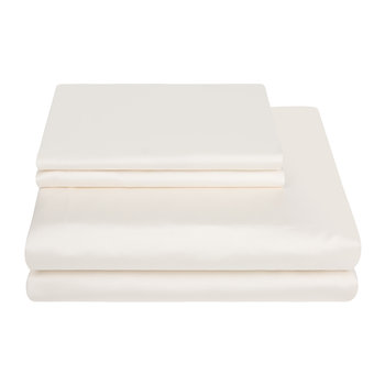 500 Thread Count Sateen Duvet Cover - Ivory