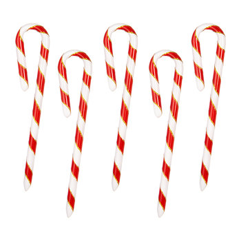Little Candy Canes Tree Decoration - Set of 5
