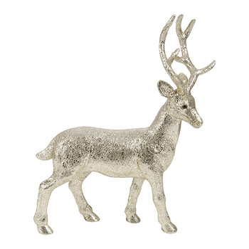 Tasko Glitter Deer Ornament - Gold