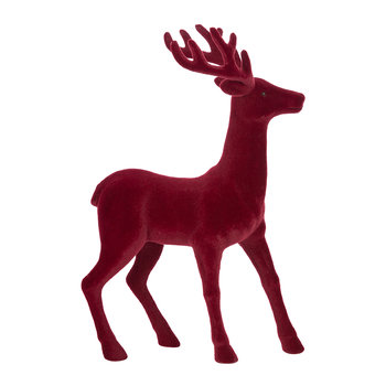 Tasko Deer Ornament - Red