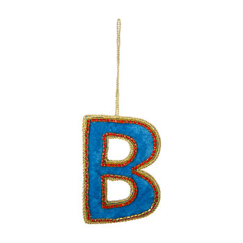 Letter Christmas Tree Decoration - B