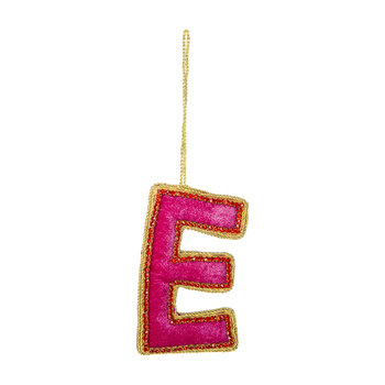 Letter Christmas Tree Decoration - E