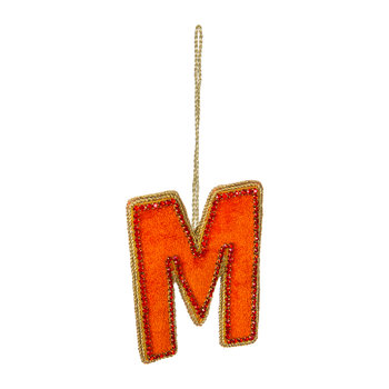 Letter Christmas Tree Decoration - M
