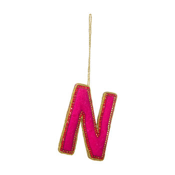 Letter Christmas Tree Decoration - N