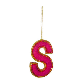 Letter Christmas Tree Decoration - S