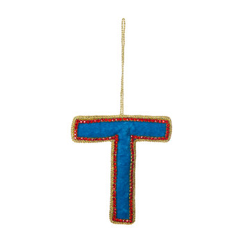 Letter Christmas Tree Decoration - T