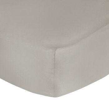 Egyptian Cotton Sateen Fitted Sheet - Taupe