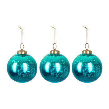Set of 3 Sapphire Shine Tree Decorations