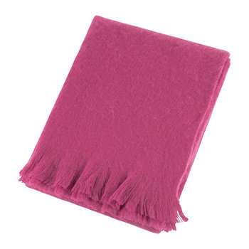 Mohair Feel Throw - Fuchsia