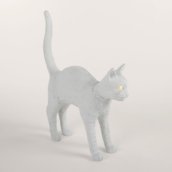 Jobby the Cat Rechargeable Lamp - White
