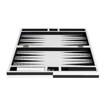 Op Art Backgammon Set - Black/White