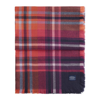 Berkley Knitted Scarf - French Navy Check