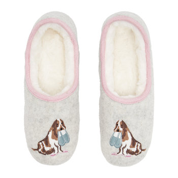 Cream Dog Slippets Mule Slippers