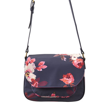 Darby Canvas Saddle Bag - French Navy Bircham Blossom