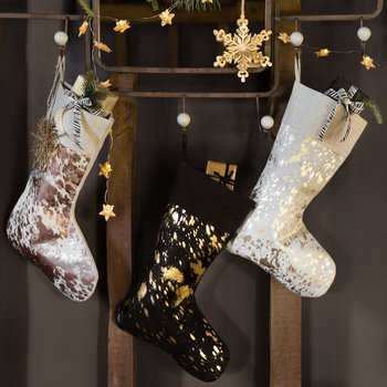Hide Stocking - Black & Gold