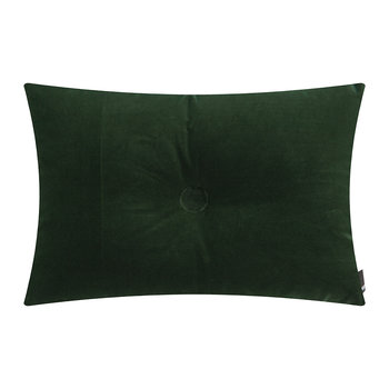 Velour Dot Cushion - 45x60cm - Dark Green