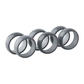 'Kit' Napkin Ring - Set of 6 - Light Grey