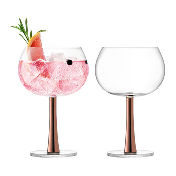 Gin Balloon Glass - Set of 2 - Copper