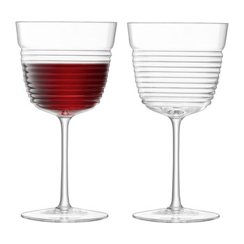 Groove Wine Goblet - Set of 2