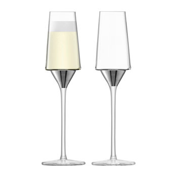 Space Champagne Flute - Set of 2 - Platinum