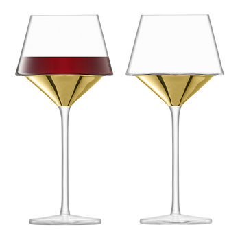 Space Wine Goblet - Set of 2 - Gold